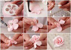 Gumpaste rose step-by-step.