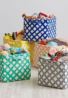 Shop Crisscross Cube Storage Bin.  Our Crisscross Cube Storage Bins feature a colorful crisscross pattern which are perfect for holding toys, games and more.