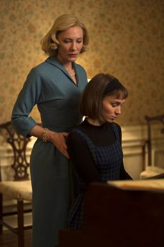 'Carol' - cate blanchett & rooney mara  I love the intensity and the uncertainty of this moment; the way it makes Therese falter at the piano, that expression on Carol's face that she knows this is forbidden, that it's gotten her in trouble in the past, but its who she is and she wants it. Too many feelings!