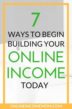 If you are ready to make money online, you need some ideas on where to start! Take a look at these 7 ways to build your online income today. Earn Money From Internet, Get Money Online, Online Income, Make Money Blogging, Online Jobs, Earning Money, Make Money From Home, Way To Make Money, Money Fast