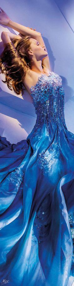 "Fall 2016 Haute Couture - Blanka Matragi ""Elements: ""Aqua"", 2017 Collection"