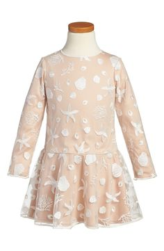 Free shipping and returns on Tadashi Shoji Embroidered Dress (Toddler Girls, Little Girls & Big Girls) at Nordstrom.com. Intricate embroidery in an under-the-sea motif enhances the dreamy style of a gorgeous dress fashioned with a flared, drop-waist skirt.