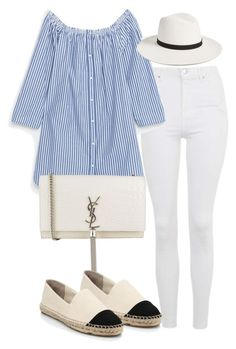 Untitled #2300 by theeuropeancloset on Polyvore featuring polyvore, fashion, style, Topshop, Tory Burch, Yves Saint Laurent, Janessa Leone and clothing