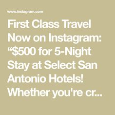 Compare Travel Prices, book trips and save you money. Our site will entice you & your family to travel more often and get the best travel deals. Cheap Domestic Flights, San Antonio Hotels, Stay The Night, First Class, Travel Deals, Tex Mex, Encouragement, The Selection, Told You So