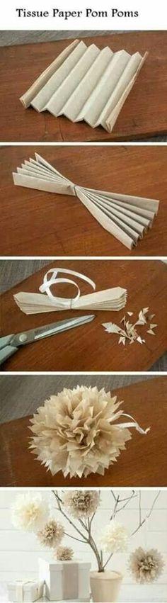 Pompon en papier de soie... ...