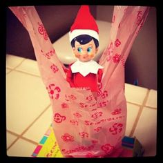 """Even """"Elf on a Shelf"""" can't get enough of Scensibles Bags! What's your favorite """"Elf on a Shelf?""""  www.scensiblesbags.com"""