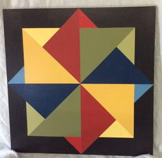 Spinning Block Barn Quilt Designs, Barn Quilt Patterns, Pattern Blocks, Quilting Designs, Painted Barn Quilts, Jelly Roll Quilt Patterns, Barn Wood Signs, Barn Art, Geometric Art