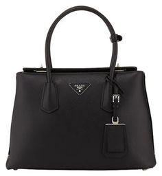 Prada Leather Satchel in Black