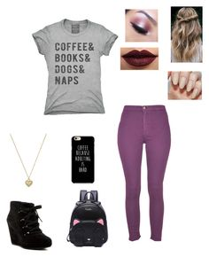 """Coffee 😊"" by geekystyler ❤ liked on Polyvore featuring Patrizia Pepe, Via Spiga, LASplash, Too Faced Cosmetics and Michael Kors"