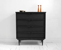 Mid Century Wood Dresser - Credenza, Modern, Retro, Cabinet, Tallboy via Etsy