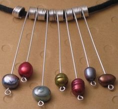 sterling silver pearl necklacemulticolor by appletreejewelry, $32.00