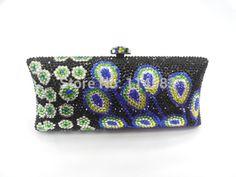 S7735TG Crystal lady fashion wedding Bridal Metal Evening purse clutch bag case handbag