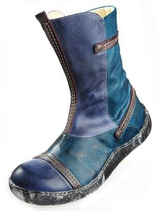 Eject 'Runa', blue - Ankle Boots - Deerberg