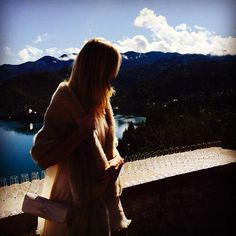 #RenataZanchi Renata Zanchi: One last day in this paradise. Good morning #Bled  #blessed #paradise #bled #slovenia #nickandnatywedding #weekend #amazing #friends #love #friendsreunited #view #castle #bledcastle #lake #champagne #nature #green #trees #silence #model #renatazanchi #italianmodel #NickAndNaty #buonadomenica