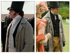 "This regency era coat was worn by Colin Firth in ""Pride and Prejudice"" and then again by J.J. Feild in ""Austenland.""  #PrideandPrejudice #ColinFirth #JJFeild #Austenland #JaneAusten"