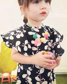 annikaベルキノブラウス(ブラック) - 韓国子供服amber,annikaのtsubomiかわいい輸入服のセレクトショップ