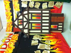 the great fire of London (made by Sally Maddison) School Displays, Classroom Displays, The Fire Of London, Link And Learn, The Great Fire, Jr Art, Book Corners, London Art, Fire And Ice