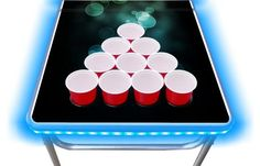 8-Foot Professional Beer Pong Table Led Beer Pong Table, Best Beer, Ice Cube Trays, Top, Shirts
