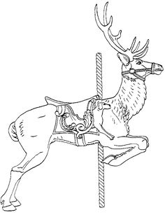 Carousel Deer - Stamplistic | stencils/Coloring Pages | Pinterest