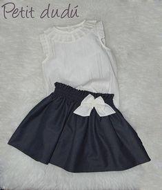 PetitDudu, ropa, sacos y complementos de bebé: FALDA Y BLUSA PARA NIÑA