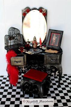 Dollhouse Miniature Halloween Gothic by NightfallMiniatures