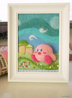 Kirby needle felted portrait