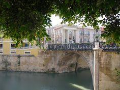 Puente de Los Peligros por el Rio Segura, Murcia.  por amadeus2050
