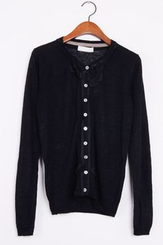 Strappy Front Button-up Cardigan
