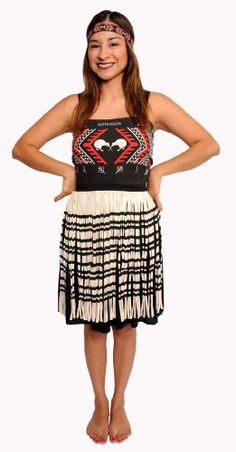 Misses Kapa Haka Maori Costume - Size 10 >>> For more information, visit image link. Fashion Sale, Star Fashion, Fashion Beauty, Fashion Outfits, Dress Up Costumes, Dance Costumes, Fashion Blog Names, Black And White Design, Red Black