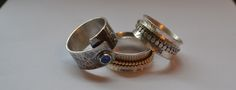 Wrap ring and Spinner Rings Spinner Rings, Gemstone Rings, Gemstones, Jewelry, Jewlery, Gems, Bijoux, Jewerly, Jewelry Rings