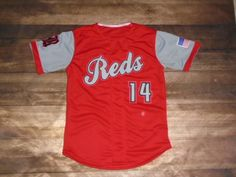Take a look at this custom jersey designed by Reds Baseball and created at Blue Chip Athletic in North Kansas City, MO! http://www.garbathletics.com/blog/reds-baseball-custom-jersey-4/ Create your own custom uniforms at www.garbathletics.com!