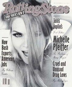 Michelle Pfeiffer in Rolling Stone Magazine 1992