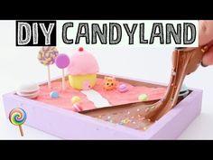 MAKING DIY MINI CANDY LAND ZEN GARDEN - Stress Relieving Slime Desk Decor! - YouTube