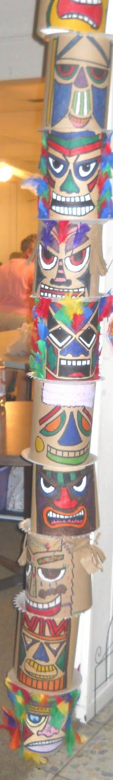 Kids craft Totem poles