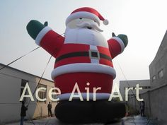 festive inflatable Christmas decoration inflatable smile Santa Claus for party #Affiliate
