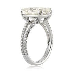 Markbroumand.com #3208-1  http://www.markbroumand.com/5.37ct-emerald-cut-diamond-engagement-anniversary-ring-3208-1d38214265/