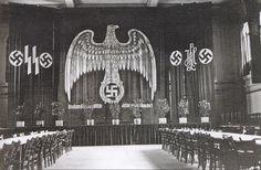 Kaserne der Leibstandarte-SS Adolf Hitler, reception hall.