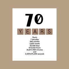 70th Birthday Card Milestone The Big 70 1946 40th