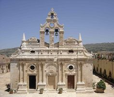 The monastery of Arkadi (Greek: Μονή Αρκαδίου) is an Eastern Orthodox monastery, situated on a fertile plateau 23 km to the southeast of Rethymnon on the island of Crete in Greece.