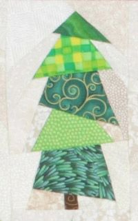 Free foundation patterns for Tina Curran's Christmas Flag Quilt, week 2 -- trees 3, 4 & 5 -- are available on the Quilters Newsletter website.