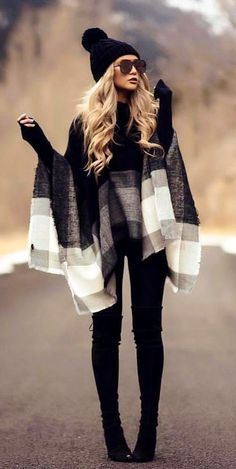 winter outfits classy winter outfits casual over 40 fashion ideas , winteroutfits lssig ber 40 modeideen winter outfits casual over 40 fashion ideas , Blackgirl winter outfits Cozy Winter Outfits, Winter Outfits For Work, Fall Outfits, Casual Outfits, Women's Casual, Snow Outfits For Women, Holiday Outfits, New York Winter Outfit, Chic Black Outfits