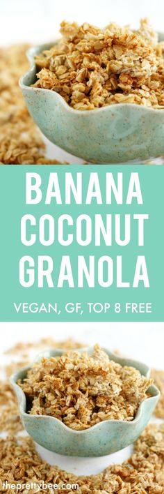 banana coconut granola is a sweet treat that makes a perfect use allowed oil