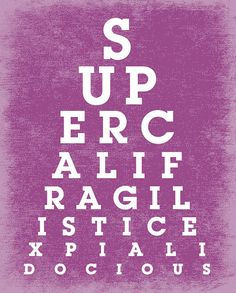Charte de le œil imprimer 8 x 10 Eyechart affiche par PopArtPrints