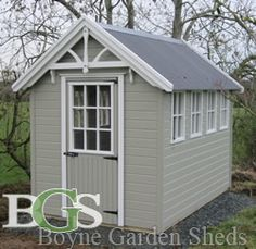 Cottage style garden shed.Boyne garden sheds. High quality garden sheds in Ireland Outdoor Buildings, Outdoor Structures, Garden Sheds, Small Houses, Cottage Style, Cottages, Ireland, Pretty, Projects