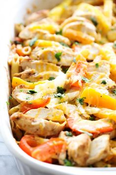 This Chicken Fajita Pasta Casserole is easy and loaded with delicious flavor and yummy ingredients. It is a great meal for any night of the week! Life is getting into a busy mode again. I entered second trimester a few weeks ago and am patiently waiting for my energy to come back. I am still …