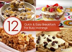 12 Quick & Easy Breakfast Ideas for Busy Mornings