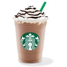 Double Chocolate Chip Frappuccino ❤ liked on Polyvore featuring food, food and drink, starbucks, drinks and fillers