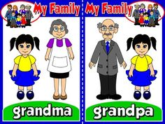 My Family - Set of 6 Flashcards