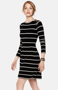 Free shipping and returns on Eliza J Knit Fit & Flare Dress at Nordstrom.com. Dotted stripes run across a swinging, comfortably stretchy sweater-dress.