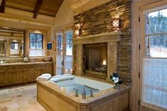 Bath in our Aspen inspired home
